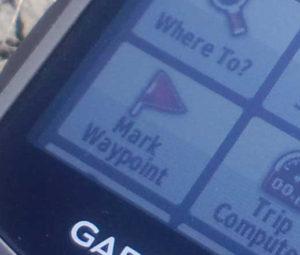 Mark Waypoint ウェイポイントという、位置を登録しておく機能です。