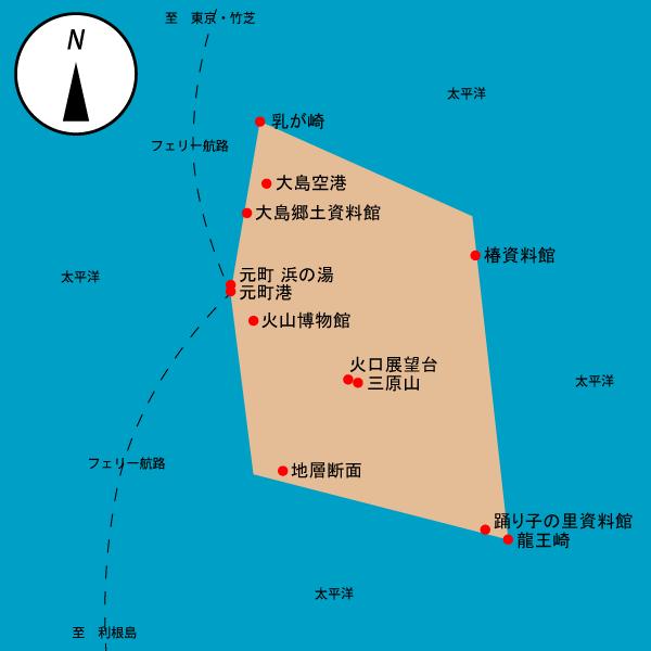 Illustrator で作成した、ビットマップ形式の自作地図。
