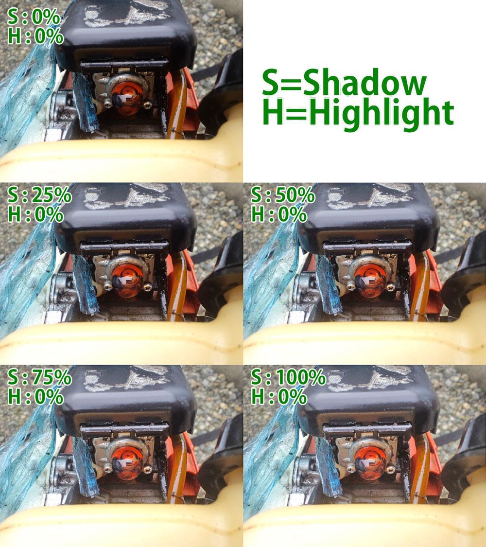 シャドウ・ハイライトを別の写真に適用した画像。
