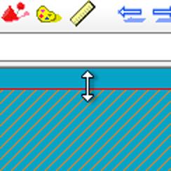 カシミール 3D の画面 : 選択範囲を上下に拡大・縮小。