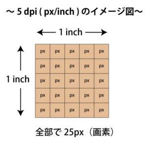 5 dpi の画像のイメージ図。
